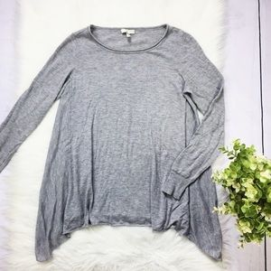 Joie Comfy Gray Long Side/Sleeve Blouse Top